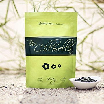 Bio-Chlorella pure, 2000 Presslinge, 500g, aus kontrolliert biologischem Anbau, laborgeprüft, Rohkostqualität! -