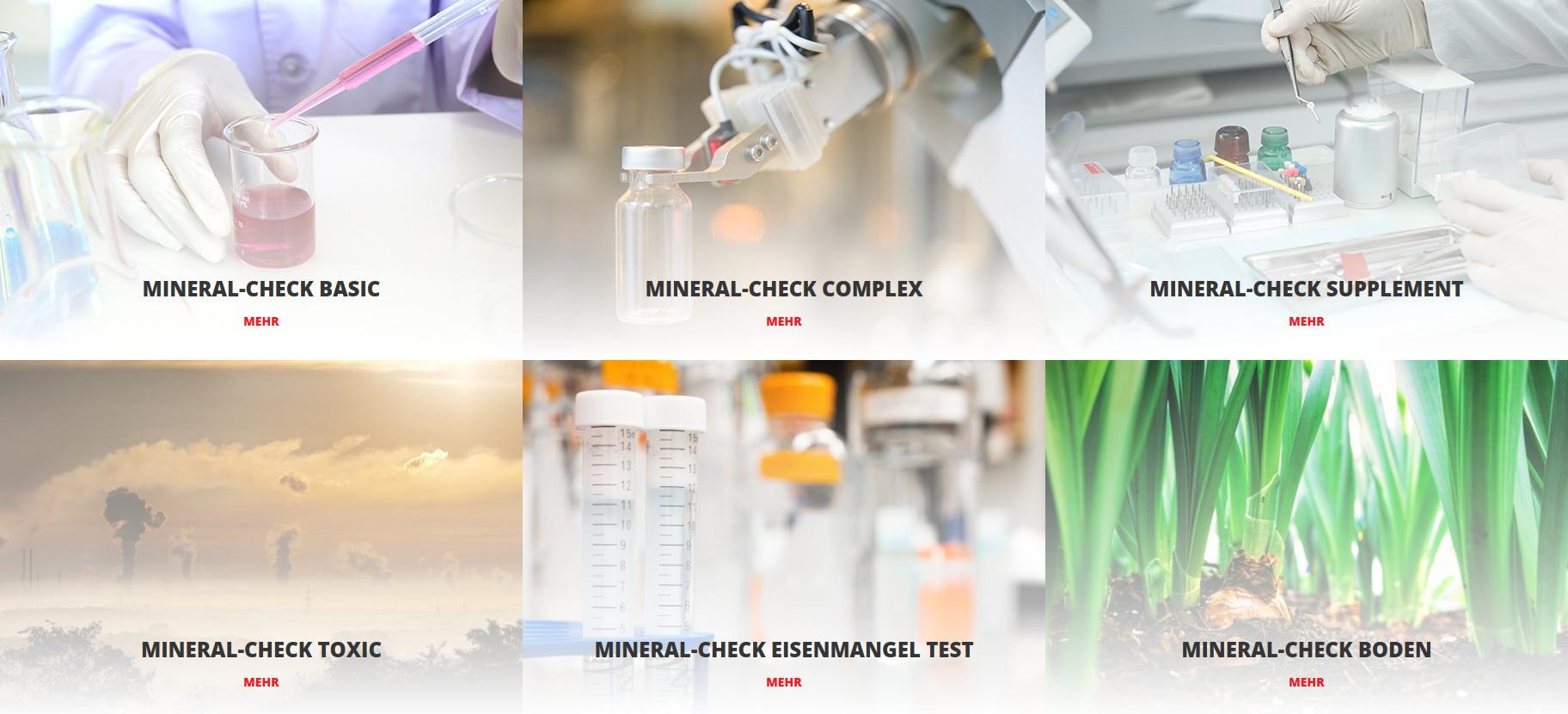Mineralstofftest jetzt durchführen