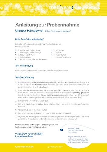 Hämopyrrolurie HPU (Kryptopyrrol) Urintest