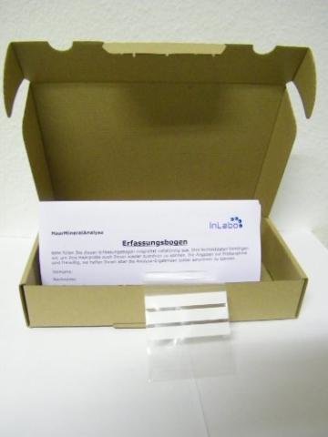Test-Set für Haarmineralanalyse auf Nährstoffe und Schwermetalle